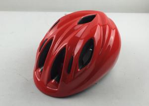 China Red Cycling Helmet For Kids / Downhill Mountain Bike Helmets Nylon Strap on sale