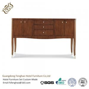 China Vintage Wooden Top Drawers half round console table Sideboard Cabinet for Living Room Furniture on sale