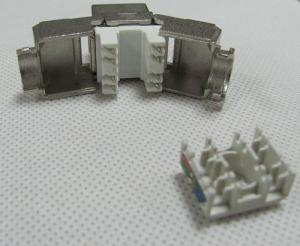 China Toolless Cat6A RJ45 STP Network keystone jack With cable holder on sale
