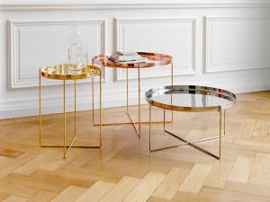 China Nordic Style Habibi Side Table , Simple Console Rose Gold Coffee Table on sale