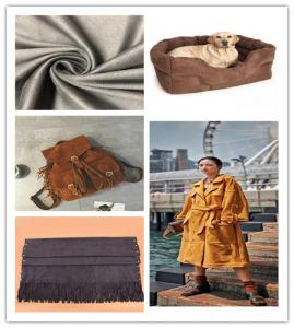 China Soft Handfeel Lightweight Suede Fabric Black Fiber With Good Air Permeability on sale