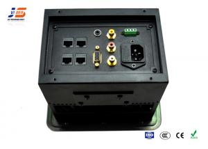 Customized Brushed Hidden Power Supply Conference Table Data Ports - Conference table power supply