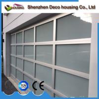 China Anodized aluminum frame frosted glass garage door panels prices on sale