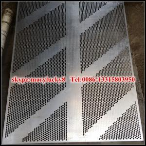 China powder coated perforated metal mesh wall panels on sale