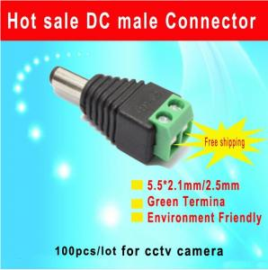 China male DC connector 5.5*2.1mm DC Power Jack Adapter Plug Cable Connector Environmental friendly Green Terminal on sale