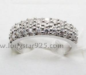 China 925 silver rings, circle ring, lady fashion ring on sale