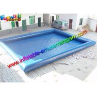 Plato 0.9mm PVC Blue Intex Inflatable Swimming Pools For Kids / Adults