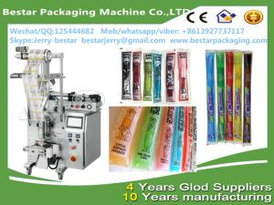 China Automatic Vertical Packaging Machine Forliquid frutis syrup ice pop filling  bestar packaging machine on sale