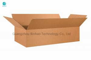 China White and Brown Three Layer Corrugated Paper Box For Cigarette Packing on sale