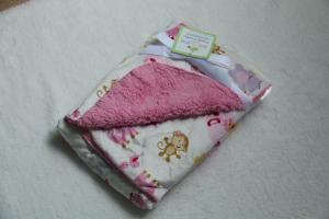 China Shrink - Resistant Soft Printing Polyester Baby Blanket For Bag / Bedding on sale