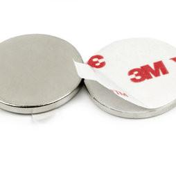 China Permanent Magnet disc NdFeB Neodymium Disc Magnets self-adhesive 3M magnets on sale