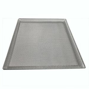 China 304 Grade Stainless Steel Crimped FDA Wire Mesh Tray on sale