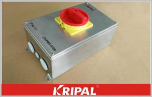 China IP65 100A 4 Pole Stainless Steel Enclosed Multi Position Rotary Switch Disconnectors on sale