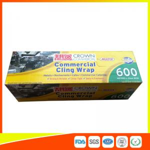 China Commercial Wrapping Catering Cling Film 45cm Roll / Cooking Film Wrap For Kitchen on sale