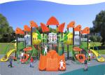 Residential / Park Outdoor Playground Equipment Plastic Coating Stage With 50-80 Capacity