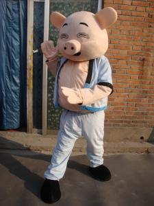 Quality funny pig mascot costume, cartoon costume for sale