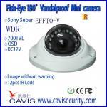 cámara análoga HB-WDRS180SVIR de 180degree WDR Fisheye