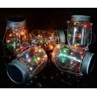 Plastic Landscape Solar Lights Beautiful Design Glass Jar Lights For Garden