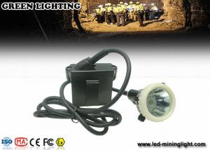China 500g 4000 Lux  6.6ah Waterproof Safety Led Cap Lamp With Li - Ion Battery ,16h  Long Work Time on sale