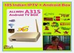 China HD IPTV Set Top Box Quad Core India Android IPTV TV Box Support 122+ India channles ( SAMAA TV Sada chamel Miunes HD ) wholesale