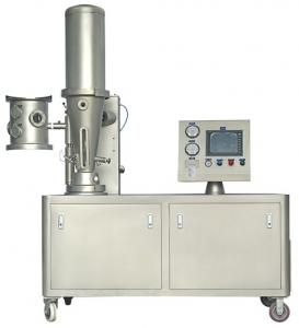 China Pilot Fluid Bed Processor Laboratory Fluid Bed Coating Machine PLC Control on sale