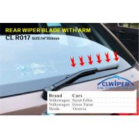 China Car Rear Wiper Blades For Volkswagen , Soft Rubber Windshield Wiper Blade Size 14 on sale