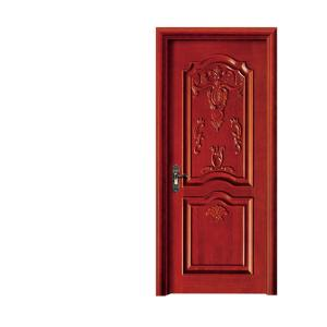 China Foshan High Quality Interior Beautiful Paint Colors Solid Teak Wood Doors on sale