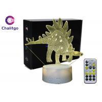 ABS 3D LED Night Light , 3D Illusion Table Lamp Dinosaur Toys AA Battery