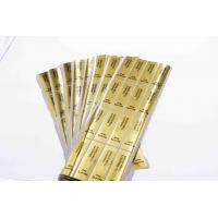 Gold Round Security Self Adhesive Hologram Sticker Labels Semi Gloss Paper