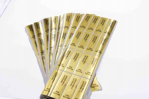 China Gold Round Security Self Adhesive Hologram Sticker Labels Semi Gloss Paper on sale