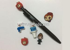 China New 0.38mm 0.5mm Kawaii Plastic Cute Cartoon Bear Head Gel Ink Pen Cute Creative Stationery For Kids Children Students on sale