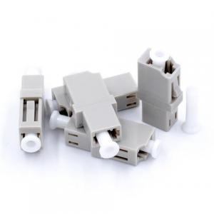 China LC UPC MM Simplex Fiber Optic Adapter / Connectors Rectangular Shape , Gray Color on sale