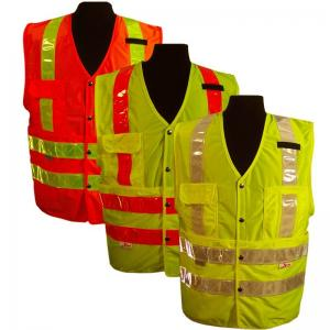 China Comfortable High Reflective Safety Vest , Attractive Style Red Safety Vest on sale