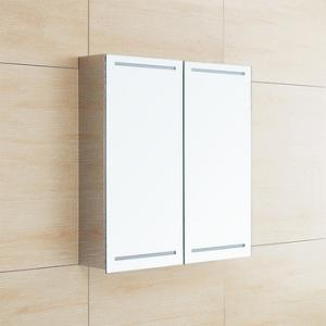 China Stainless Steel LED Mirror Cabinet With Sliding Door , Light Up Bathroom Cabinet on sale