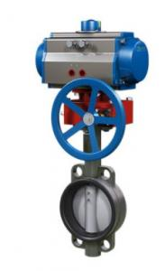 China Hydraulic Linkage Industrial Control Valves , Pneumatic Butterfly Valve on sale