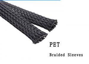 China High Flame Retardant Pet Electrical Braided Sleeving Wide Operating Temp Range on sale