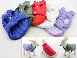 China Comfortable PVC Medium Large Big Dog Winter Vests Dog Coats Clothes Lightweight on sale