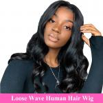 100% Raw Unprocessed Human Hair Loose Wave Full Lace Wig Full Lace Human Hair Wigs