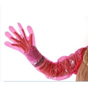 China Disposable Long Sleeve Waterproof Gloves LDPE / HDPE / CPE Material 80-120cm on sale