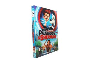 China Mr. Peabody & Sherman dvd movie disney children carton dvd with slipcover free shipping on sale