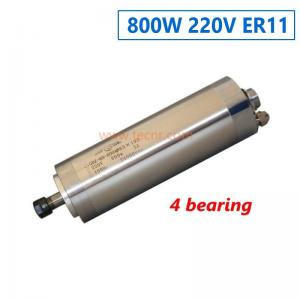 China 800W water cooled spindle motor 4 bearing 220V motor for cnc engraving machine on sale