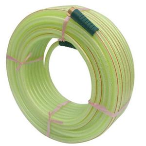 China clear fiber reinforced flexible hose PVC transparent wall braided water pipe soft plastic material water tubing on sale