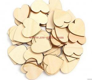 China Wooden Heart Kids Birthday Party Supplies Diy Scrapbook Craft Wedding Decoration Valentine'S Day on sale