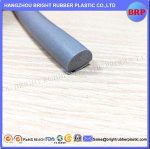 China China Manufacturer Grey Customized High Quality OEM Silicone Rubber Extrusion Sponge With 3M Tape on sale