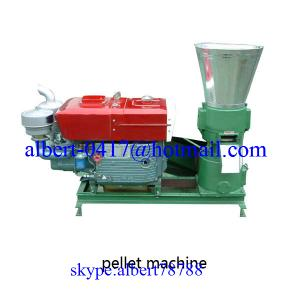 China Diesel engine wood pellet machine on sale