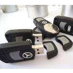 Car Key Customized USB Flash Drive, 16GB Soft PVC USB Memory Stick