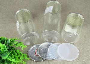 Airtight Clear PET Jar With Aluminum Easy Open Lid For Food