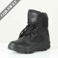 Anti-crack Wholesale Work boots Trendy Military Tactical Boots  With Zipper