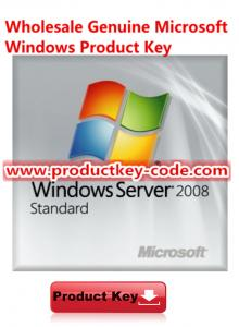 China Microsoft Windows Server 2008 Standard Product Key Code FPP Download on sale