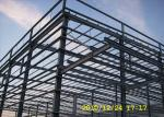 Benin multi-span steel workshop building with big cannopy and parapet
